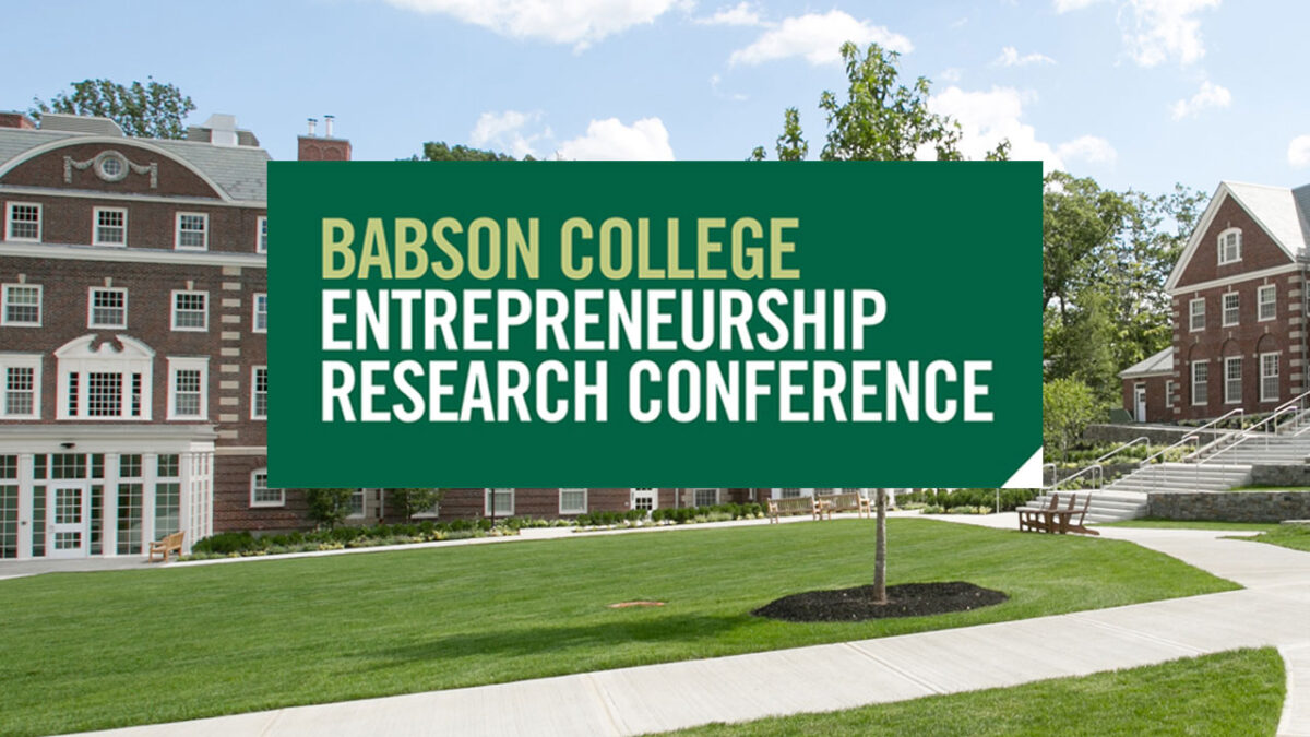 Babson College Entrepreneurship Research Conference (BCERC)